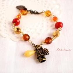 Sunset in the forest, Autumn colors bracelet